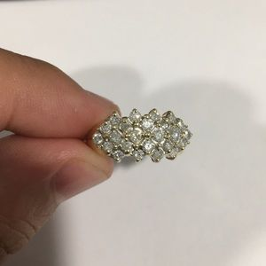 10k Yellow Gold Diamond 💎 Cocktail Ring 💍 1.00ct